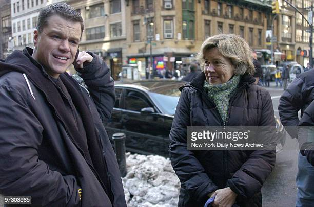 Matt Damon gets an unexpected visit from his mom, Nancy Carlsson-Paige, an early child development professor at Lesley University, while filming his...