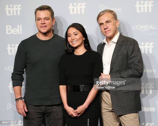 Matt Damon Hong Chau and Christoph Waltz attend 'Downsizing' photo call during the 2017 Toronto International Film Festival at Tiff Lightbox on...