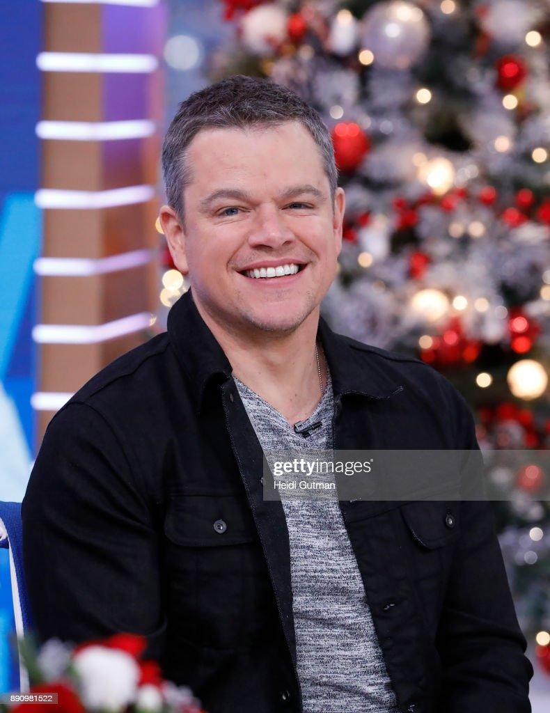 AMERICA - Matt Damon is a guest on 'Good Morning America,' Tuesday, December 12, 2017 airing on the ABC Television Network. MATT