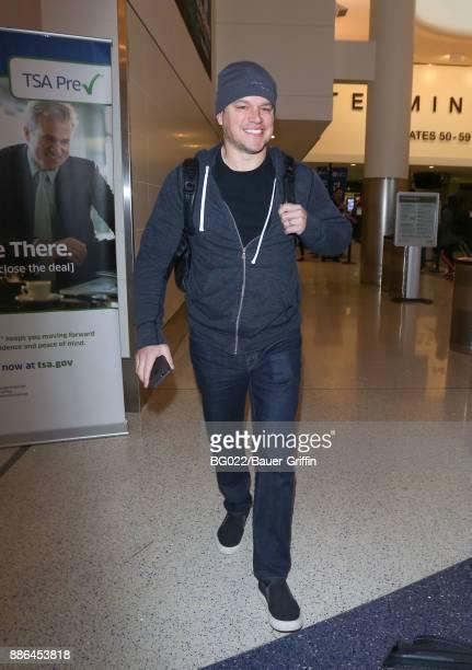 Matt Damon is seen on December 05 2017 in Los Angeles California