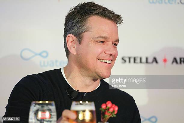 Matt Damon joins Stella Artois in honor of the Buy A Lady A Drink campaign during the Sundance Film Festival on January 21 2017 in Park City Utah