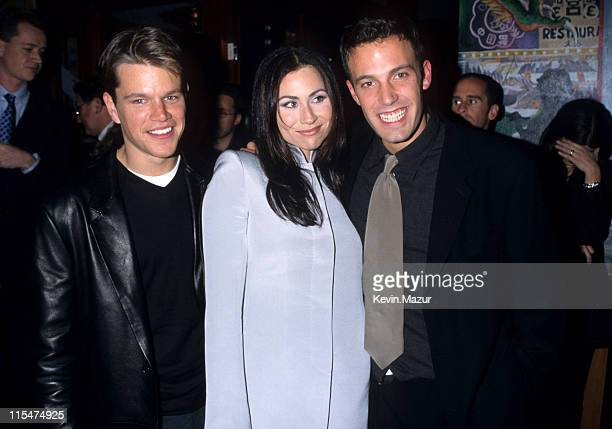 """Matt Damon, Minnie Driver and Ben Affleck during """"""""Good Will Hunting"""""""" New York City Premiere at Ziegfeld Theater in New York City, New York, United..."""