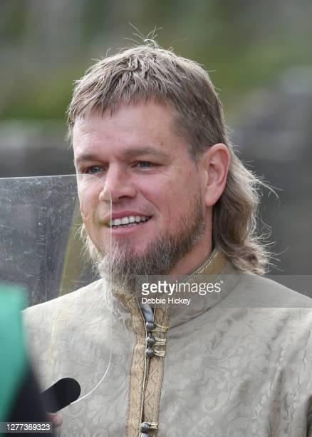 Matt Damon on set of film 'The Last Duel' on September 29, 2020 in Cahir, Co.Tipperary.