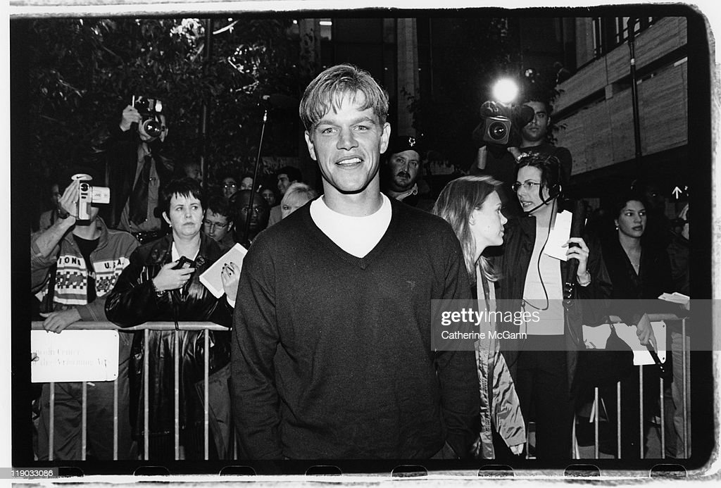 Matt Damon on the red carpet at the premiere of the film 'Dogma' in October 1999 in New York City, New York. The controversial film, a religious comedy written and directed by Kevin Smith was protested by the Catholic League upon its release.
