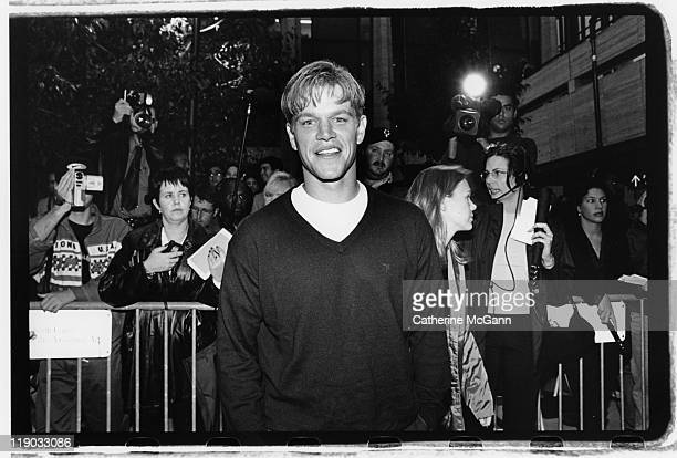 Matt Damon on the red carpet at the premiere of the film 'Dogma' in October 1999 in New York City New York The controversial film a religious comedy...