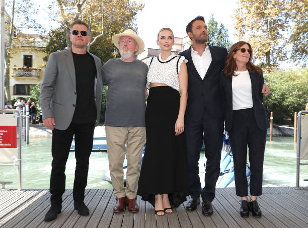 """ITA: The Cast Of 20th Century Studios' """"The Last Duel"""" Arrivals For The Photocall - The 78th Venice International Film Festival"""