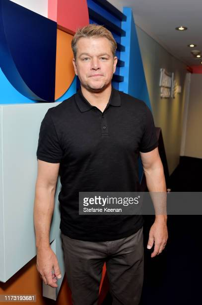 Matt Damon stops by AT&T ON LOCATION during Toronto International Film Festival 2019 at Hotel Le Germain on September 08, 2019 in Toronto, Canada.