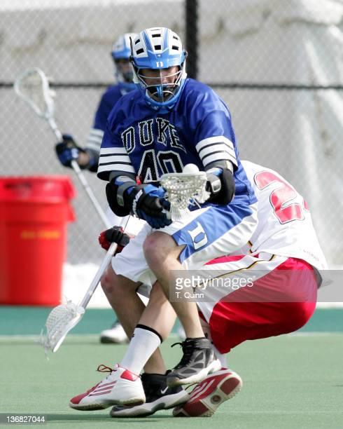 Matt Danowski beats Steve Whittenberg of Maryland at the University of Maryland in College Park Maryland on March 5 2005 Duke won 108