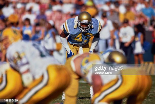 Matt Darby, Strong Safety for the University of California, Los Angeles UCLA Bruins during the NCAA Pac-10 Conference college football game against...