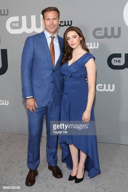 Matt Davis and Danielle Rose Russell attend the 2018 CW Network Upfront at The London Hotel on May 17, 2018 in New York City.