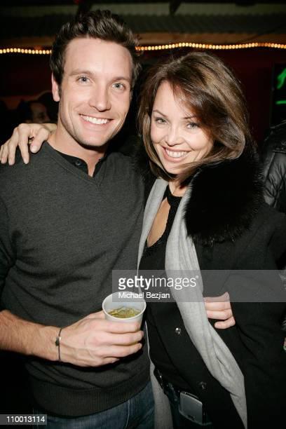 Matt Davis and model Deborah Driggs attend Outfest at Heineken Green Room at The Lift on January 18 2008 in Park City Utah