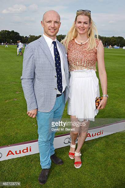 Matt Dawson and Carolin Hauskeller attend Audi International at Guards Polo Club, near Windsor, to support England as it faces Argentina for the...