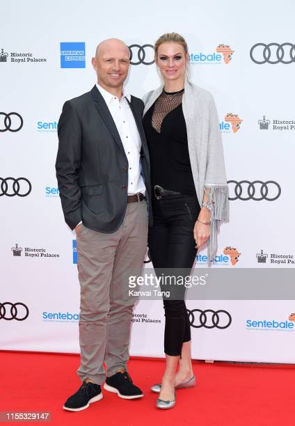 Matt Dawson and Carolin Hauskeller attend the Sentebale Audi Concert at Hampton Court Palace on June 11 2019 in London England Sentebale charity was...