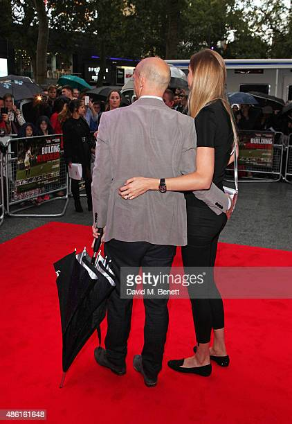Matt Dawson and Carolin Hauskeller attend the World Premiere of Building Jerusalem at the Empire Leicester Square on September 1 2015 in London...