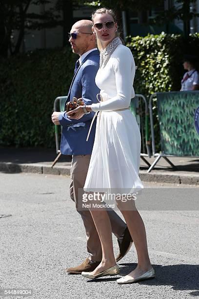 Matt Dawson and Carolin Hauskeller seen arriving at Day 8 of Wimbledon on July 4 2016 in London England