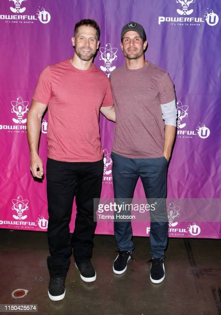 Matt Dawson and Jay Jablonski attend the PowerfulU Experience LA 2019 at Los Angeles Convention Center on May 19 2019 in Los Angeles California