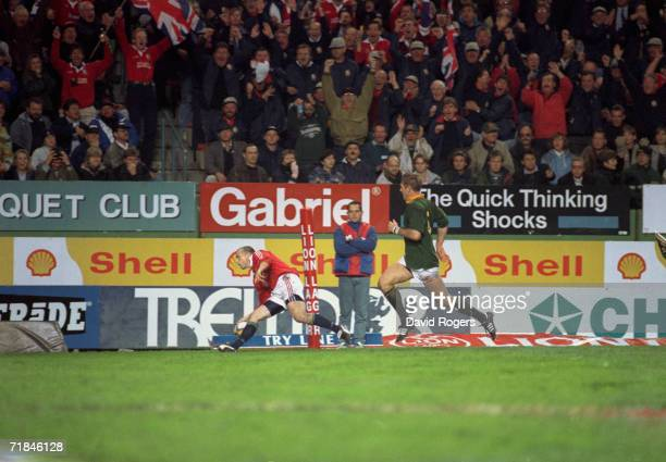 Matt Dawson touches down for the British Lions during the 1st test match against South Africa at Newlands Stadium Cape Town 21st June 1997