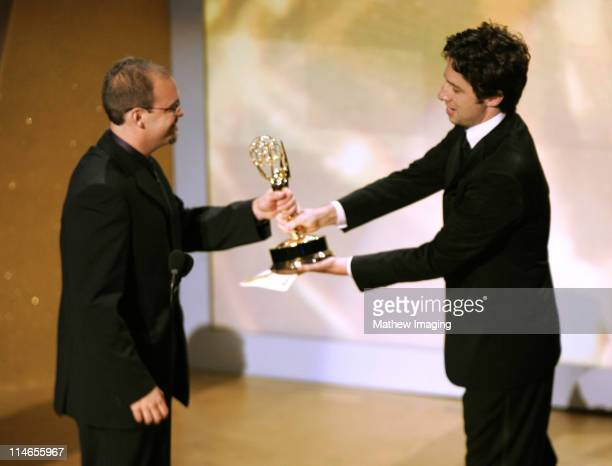 Matt Deitrich winner for Outstanding Picture Editing for Nonfiction Programming and Zach Braff *Exclusive*
