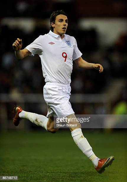 Matt Derbyshire of England during the Friendly International match between England U21 and France U21 at the City Ground on March 31 2009 in...