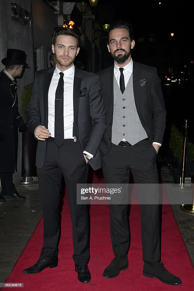 Matt Di Angelo (L) attends the Helping Hands VIP fundraising dinner in aid of WellChild at The Savoy Hotel on March 7, 2013 in London, England.