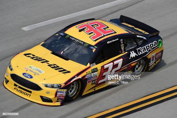 Matt DiBenedetto driver of the CanAm/Kappa Ford drives during practice for the Monster Energy NASCAR Cup Series Alabama 500 at Talladega...