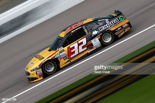 Matt DiBenedetto driver of the CanAm/Kappa Ford practices for the Monster Energy NASCAR Cup Series Hollywood Casino 400 at Kansas Speedway on October...