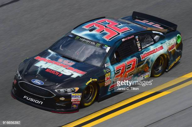 Matt DiBenedetto driver of the The Hurricane Heist Ford practices for the Monster Energy NASCAR Cup Series Daytona 500 at Daytona International...