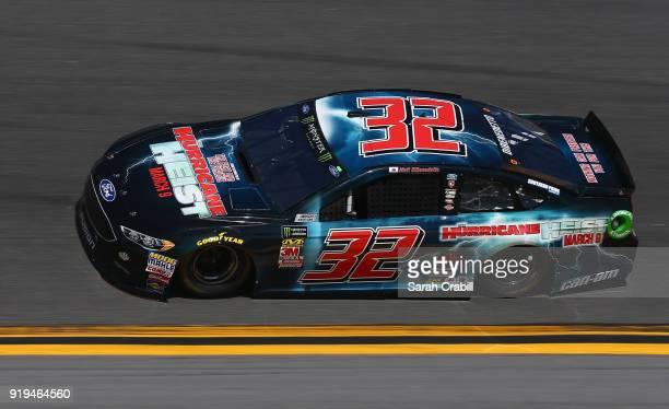 Matt DiBenedetto driver of the The Hurricane Heist Ford practices for the Monster Energy NASCAR Cup Series Daytona 500 at Daytona International...