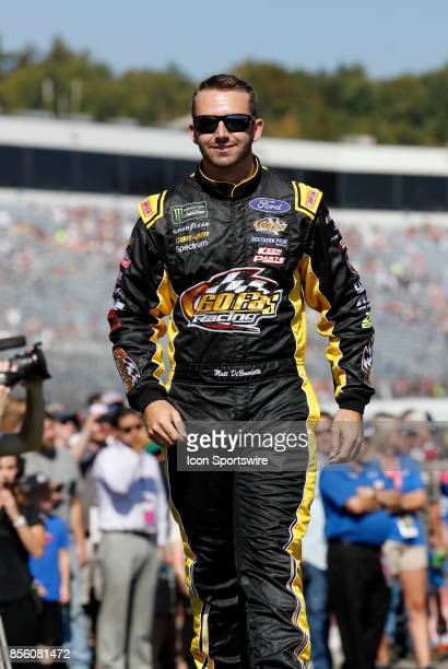 Matt DiBenedetto Monster Energy NASCAR Cup Series driver of the Ford EcoBoost Ford during introductions for the Monster Energy Cup Series ISM Connect...
