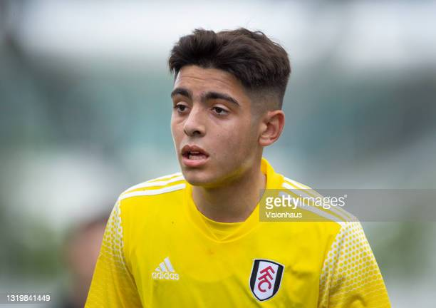 Matt Dibley-Dias of Fulham during the U18 Premier League match between Manchester City and Fulham at The Academy Stadium on May 22, 2021 in...