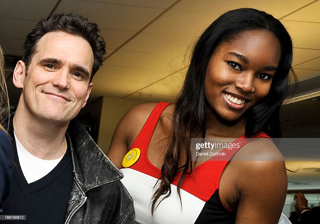 Matt Dillon and Damaris Lewis attend the 2013 Commissions For Charity Day at BTIG on May 14, 2013 in New York City.