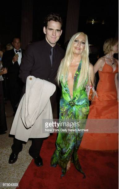 Matt Dillon and Donatella Versace arrive at the Costume Institute Gala Rock Style an exhibit of rock 'n' roll fashions at the Metropolitan Museum of...