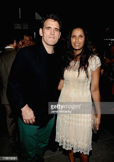 Matt Dillon and Padma Lakshmi attend The Cinema Society Brooks Brothers Host A Screening Of Lionsgate And Roadside Attractions' 'Girl Most Likely'...