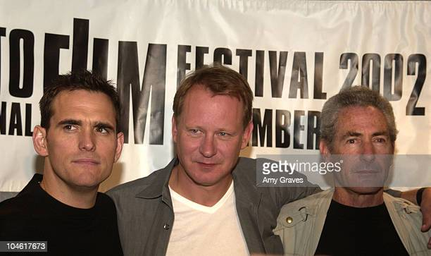 Matt Dillon and Stellan Skarsgard during 2002 Toronto Film Festival 'City of Ghosts' Press Conference at Four Seasons in Toronto Ontario Canada