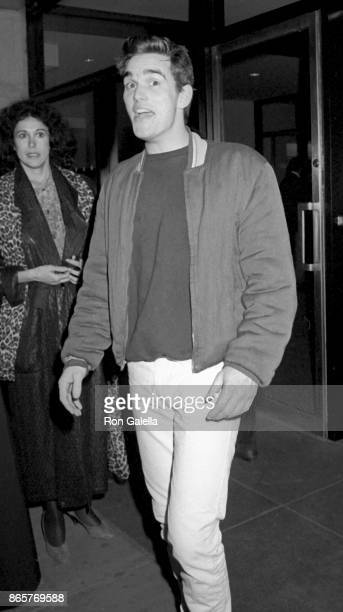 Matt Dillon attends 'The Last Empreror' Premiere on November 18 1987 at Cinema I in New York City