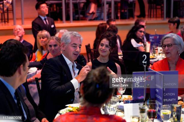 Matt Dillon, Bill Ackman, Neri Oxman and Susan L. Solomon attend The New York Stem Cell Foundation Gala And Science Fair at Jazz at Lincoln Center on...