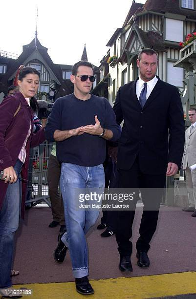 Matt Dillon during Deauville 2002 Matt Dillon Signing Autographs on His Way Out of the Normandie Hotel at CID Deauville in Deauville France