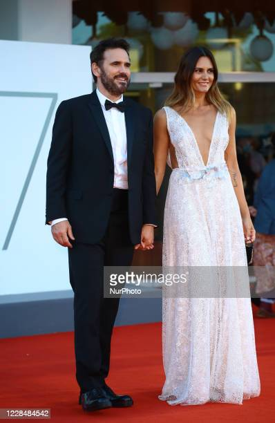 Matt Dillon, Roberta Mastromichele walk the red carpet ahead of closing ceremony at the 77th Venice Film Festival on September 12, 2020 in Venice,...