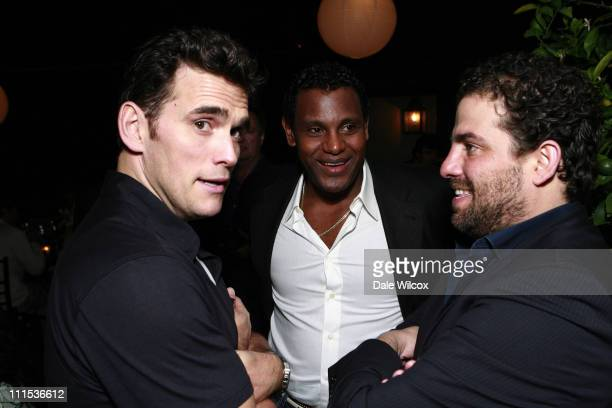 Matt Dillon, Sammy Sosa and Brett Ratner during Brett Ratner Hosts a Party For The President Of The Dominican Republic at Private Residence in...