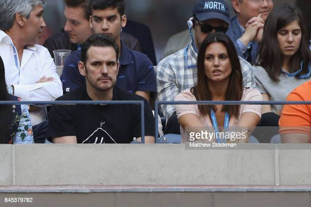 Matt Dillon watches the Men's Singles finals match between Kevin Anderson of South Africa and Rafael Nadal of Spain on Day Fourteen of the 2017 US...