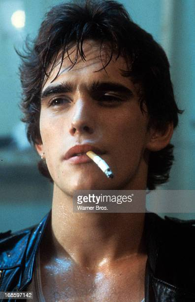 Matt Dillon with dangling cigarette in a scene from the film 'The Outsiders' 1983