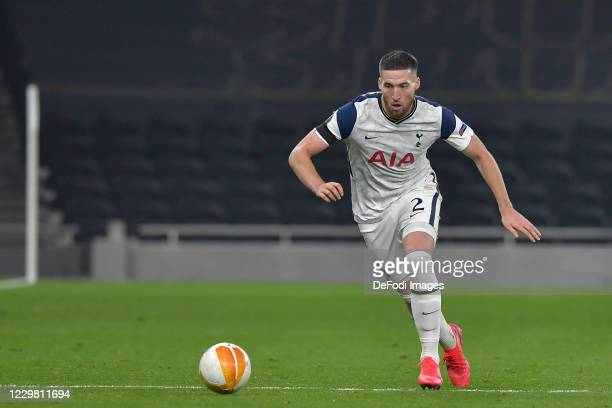 Matt Doherty of Tottenham Hotspur controls the ball during the UEFA Europa League Group J stage match between Tottenham Hotspur and PFC Ludogorets...