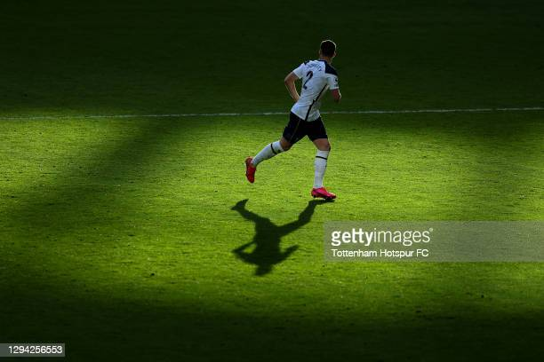 Matt Doherty of Tottenham in action during the Premier League match between Tottenham Hotspur and Leeds United at Tottenham Hotspur Stadium on...
