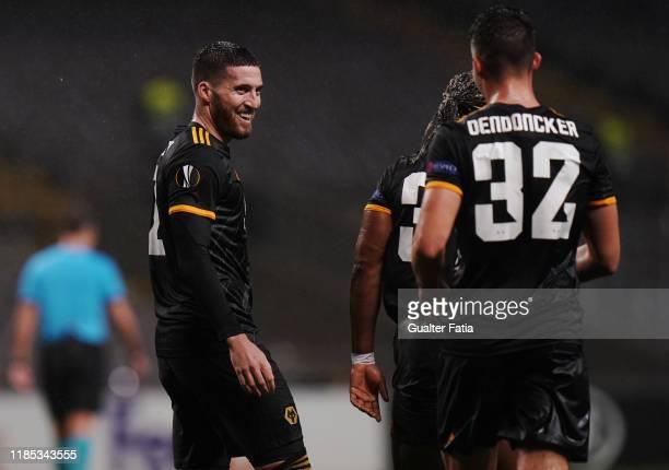 Matt Doherty of Wolverhampton Wanderers celebrates after scoring a goal during the Group K UEFA Europa League match between SC Braga and...