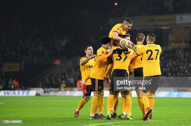 Matt Doherty of Wolverhampton Wanderers scores a goal to make it 10 during the FA Cup Fourth Round Replay match between Wolverhampton Wanderers and...