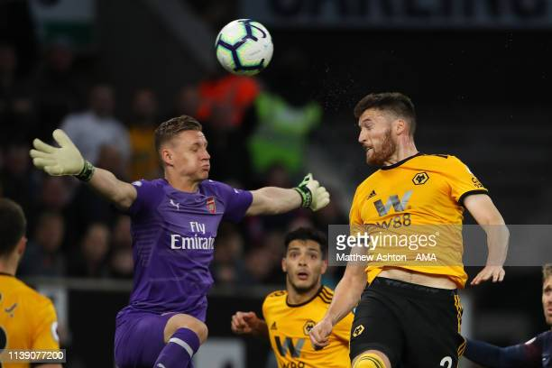 Matt Doherty of Wolverhampton Wanderers scores a goal to make it 2-0 during the Premier League match between Wolverhampton Wanderers and Arsenal FC...