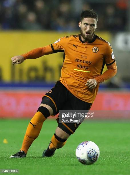 Matt Doherty Wolverhampton Wanderers runs with the ball during the Sky Bet Championship match between Wolverhampton Wanderers and Bristol City at...