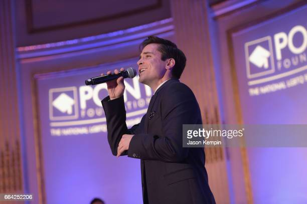 Matt Doyle sings onstage at the Point Honors Gala at The Plaza Hotel on April 3 2017 in New York City