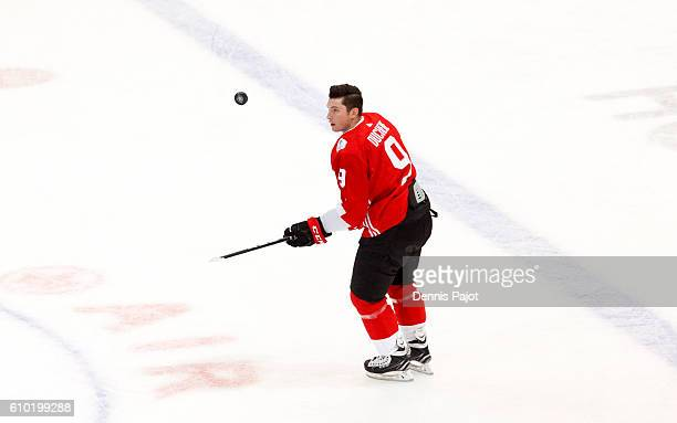 Matt Duchene of Team Canada warms up prior to a game against Team Russia at the semifinal game during the World Cup of Hockey tournament at the Air...