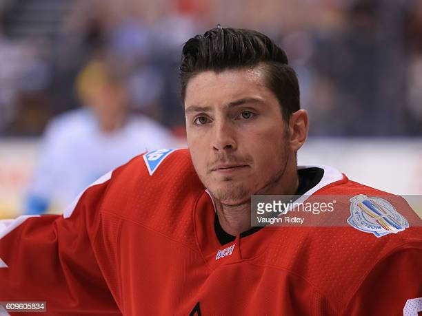 Matt Duchene of Team Canada warms up prior to a game against Team Europe during the World Cup of Hockey 2016 at Air Canada Centre on September 21...